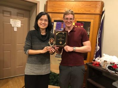 Meeting winners Vivien and Alex (Dec 2019)